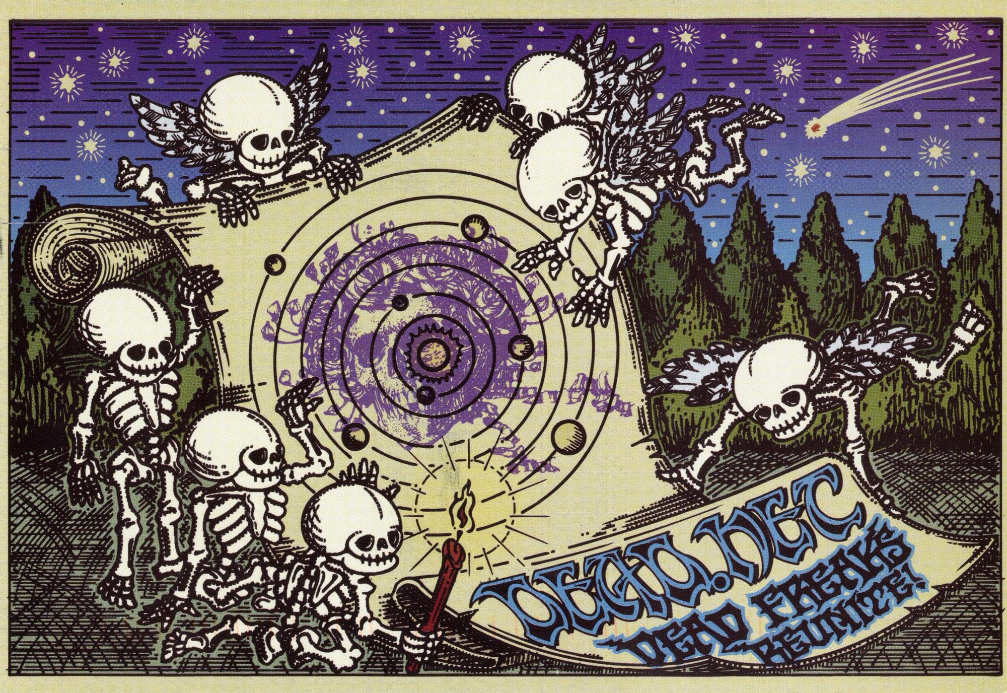 Dead Freaks Reunite Poster Grateful Dead