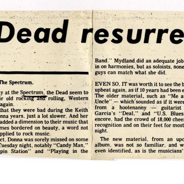 The Spectrum November 6 1979 Grateful Dead