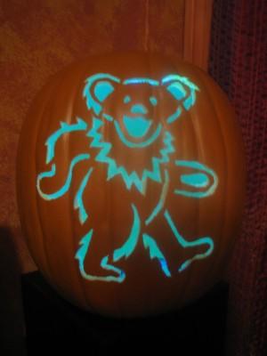 Grateful Bear Pumpkin Grateful Dead